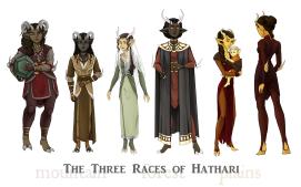 The Three Races of Hathari